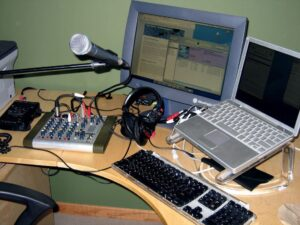 Home podcasting studio