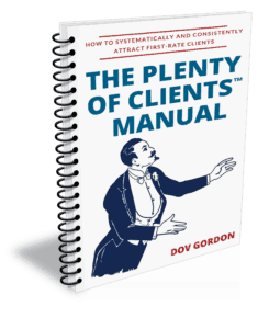 Image of cover of The 'Plenty of Clients' manual by Dov Gordon
