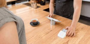 Image of Full Square App setup in a local coffee shop